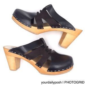 Urban Outfitters Maguba black heeled slide mules